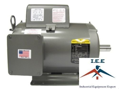 Baldor 7.5 Hp Electric Motor 1725 RPM 215T Frame 1 Ph Single Phase on